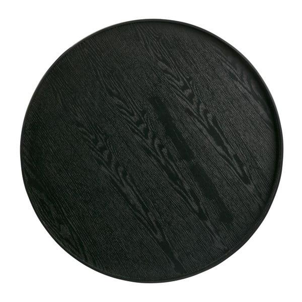 Černý podnos WOOOD Mesa, Ø60cm