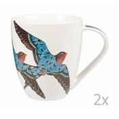 Sada 2 ks hrnků Churchill China Paradise Swallow, 500 ml