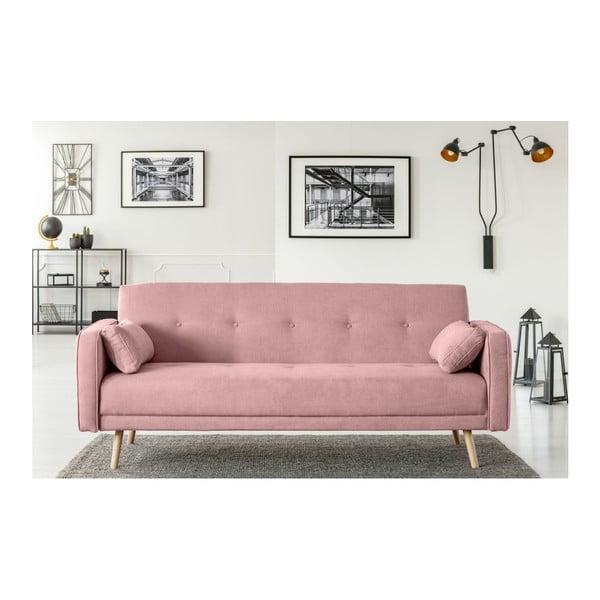 Růžová třímístná rozkládací pohovka Cosmopolitan Design Stuttgart