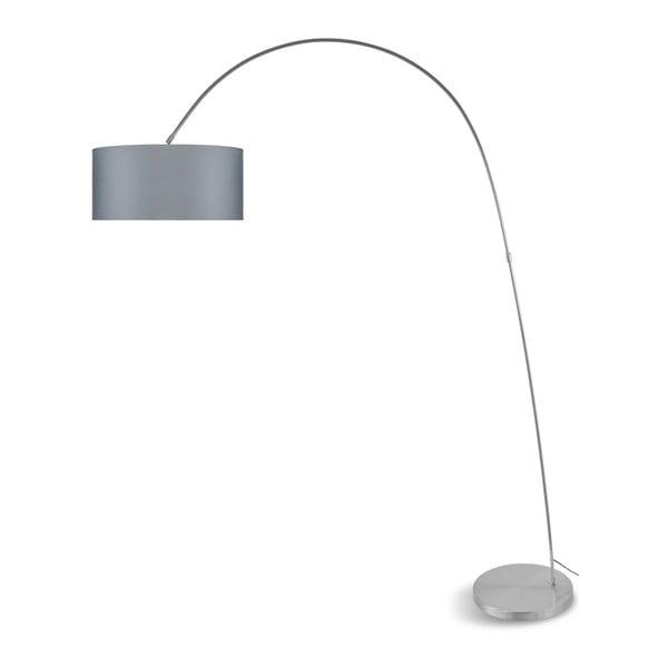 Šedá volně stojící lampa se světle šedým stínidlem Citylights Bolivia