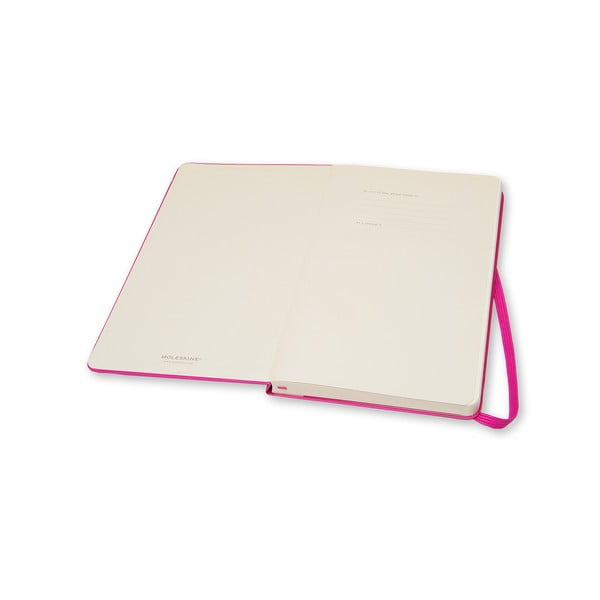 Růžový zápisník Moleskine Folio