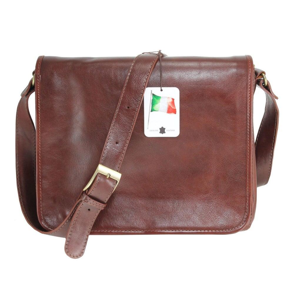 74db58b1cdf7 Hnědá kožená taška Chicca Borse Norma ...