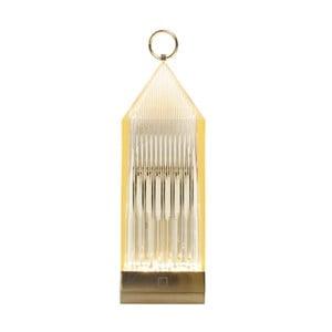 Jantarově žlutá transparentní LED lucerna Kartell Lantern