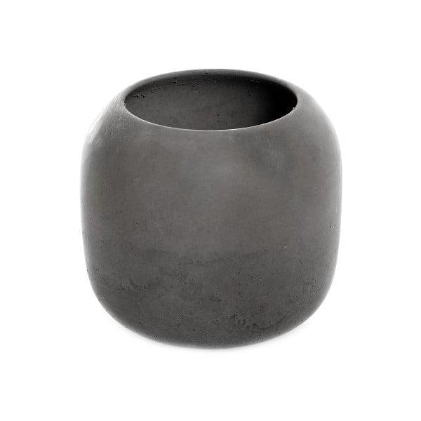 Betonová miska Iris 9x9, tmavě šedá