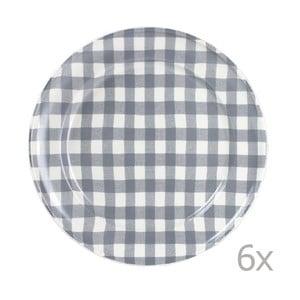 Sada 6 talířů Livia 24 cm, šedý