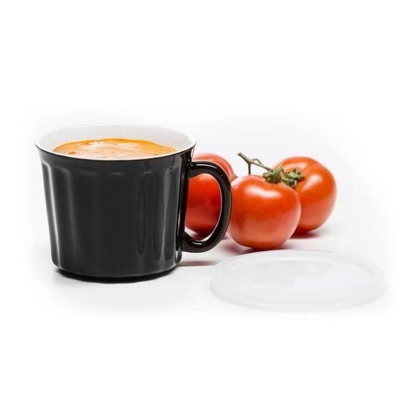 Černý hrnek na polévku Sagaform, 500ml