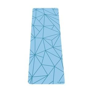 Tyrkysově modrá podložka na jógu Yoga Design Lab Geo Aqua, 5 mm
