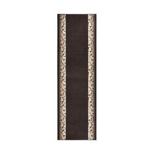 Koberec Basic Elegance, 80x200 cm, tmavě hnědý