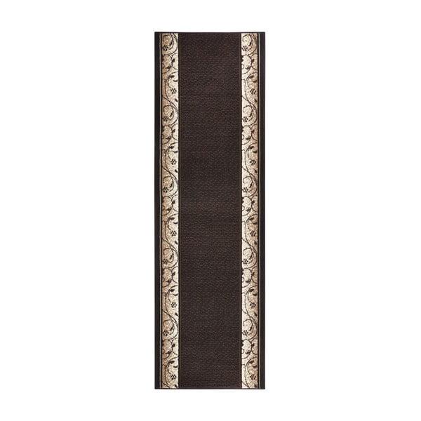 Hnědý běhoun Hanse Home Elegance, 80x250 cm