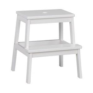 Bílá dubová stolička/schůdky Folke Gorgona