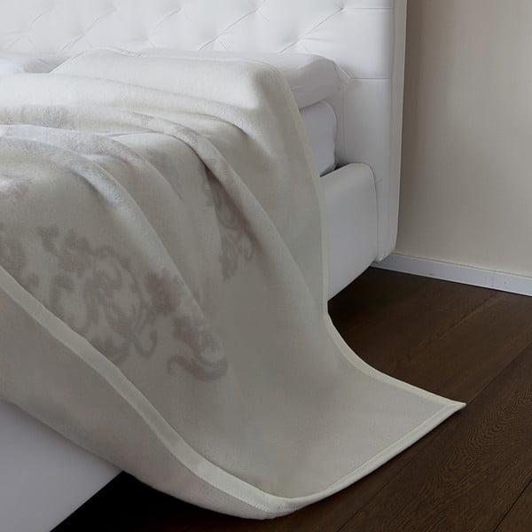Vlněný pléd Agata 210x260 cm, krémová