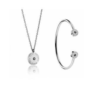 Set náhrdelníku a náramku z nerezové oceli Victoria Walls Lia