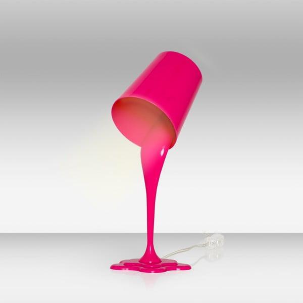 Růžová stolní lampa Homemania Ximena