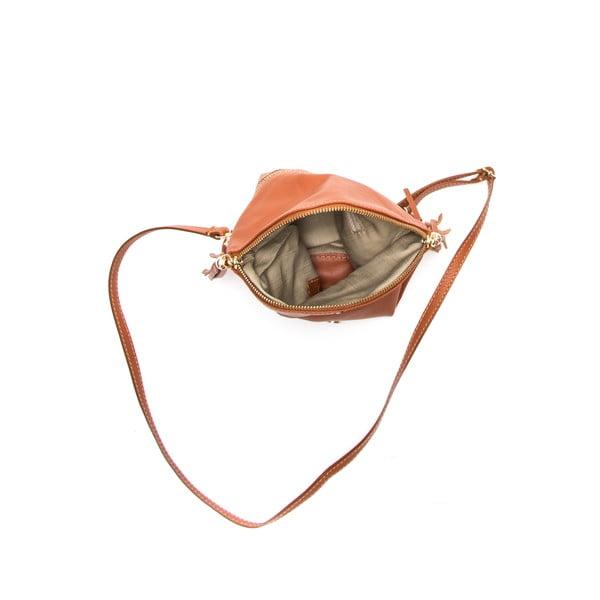Kožená kabelka Anna Luchini 202 Cognac