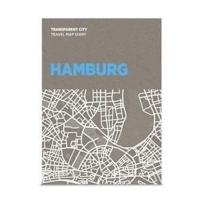 Mapa na popisky Palomar Transparent City Hamburg