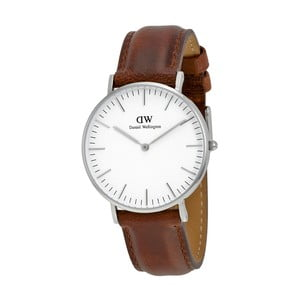 Dámské hodinky s hnědým páskem Daniel Wellington St Andrews Silver, ⌀36mm