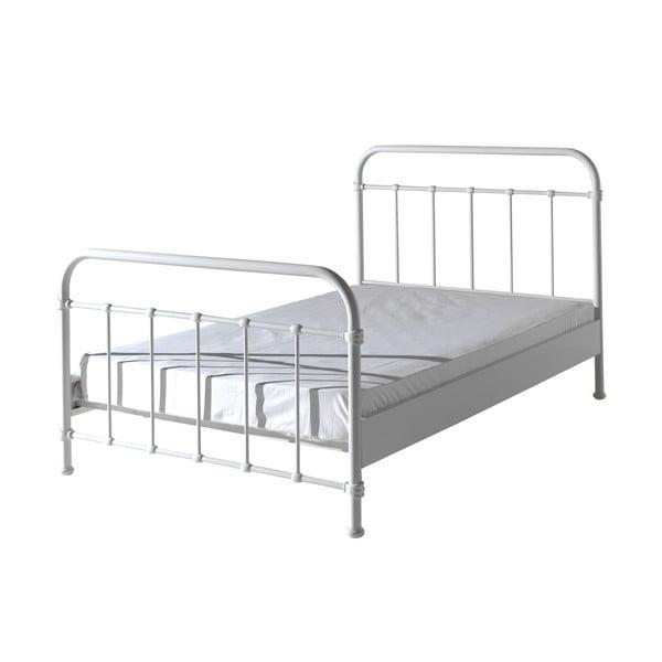 Białe metalowe łóżko dziecięce Vipack New York, 120x200 cm