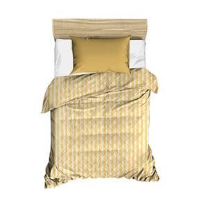 Žlutý prošívaný přehoz přes postel Amanda, 160 x 230 cm