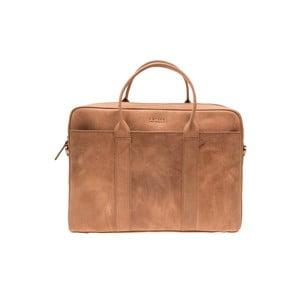 Kožená taška na notebook The Harvey, velbloudí