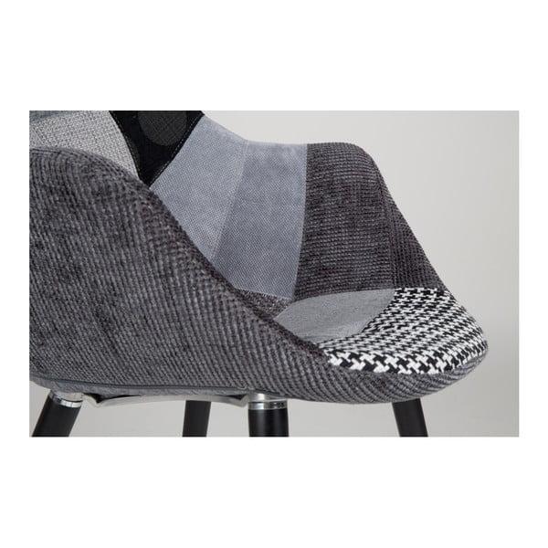 Sada 2 šedých židlí Zuiver Twelve Patchwork
