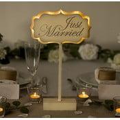 Svatební dekorace na stůl s LED světly Just Married