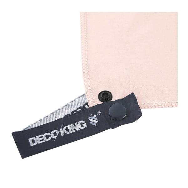 Růžová rychleschnoucí osuška DecoKing EKEA, 60 x 120 cm