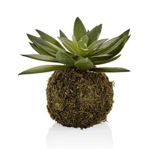 Kokedama din flori artificiale The Mia Succulent