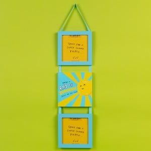 Nástěnná závěsná dekorace s 2 rámy na fotografie Happy News Ray of Sunshine