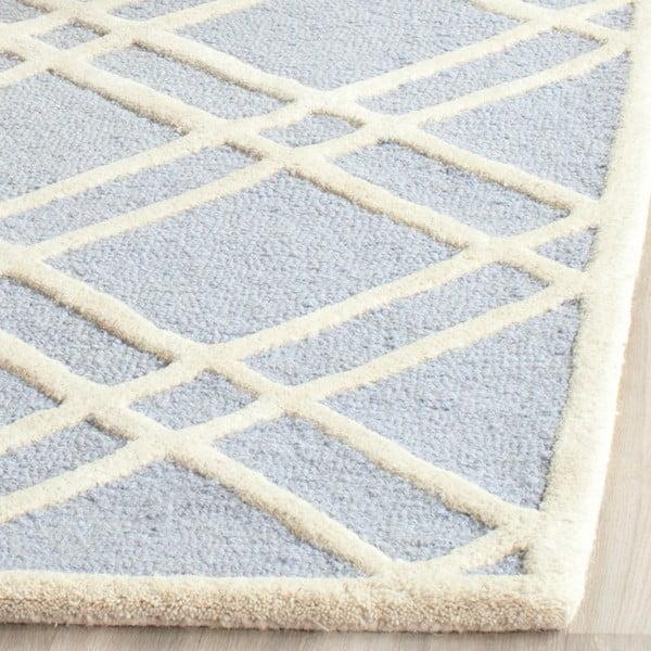 Vlněný koberec Mati 121x182 cm, světle modrý