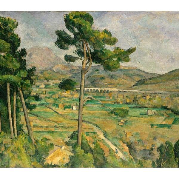 Reprodukcja obrazu Paul Cézanne - Mont Sainte, 80x70 cm