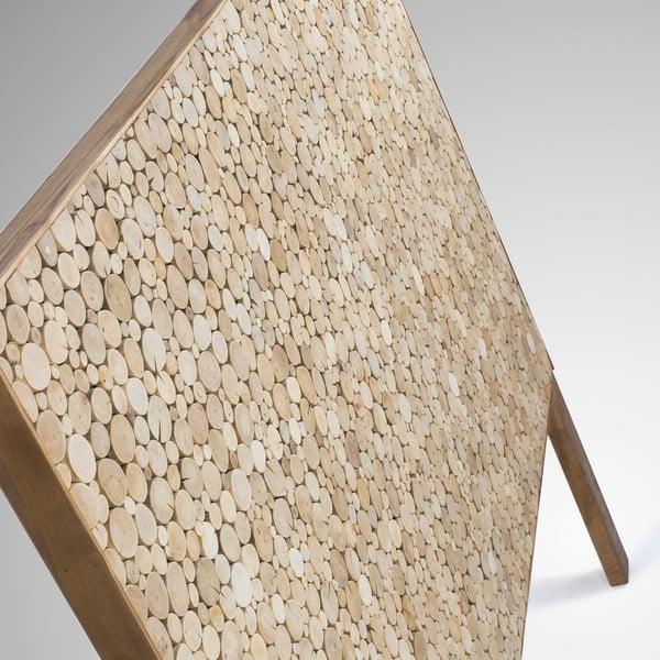 Dřevěné čelo postele dekorované mosaikou z tropického dřeva La Forma Koko, 164x135cm