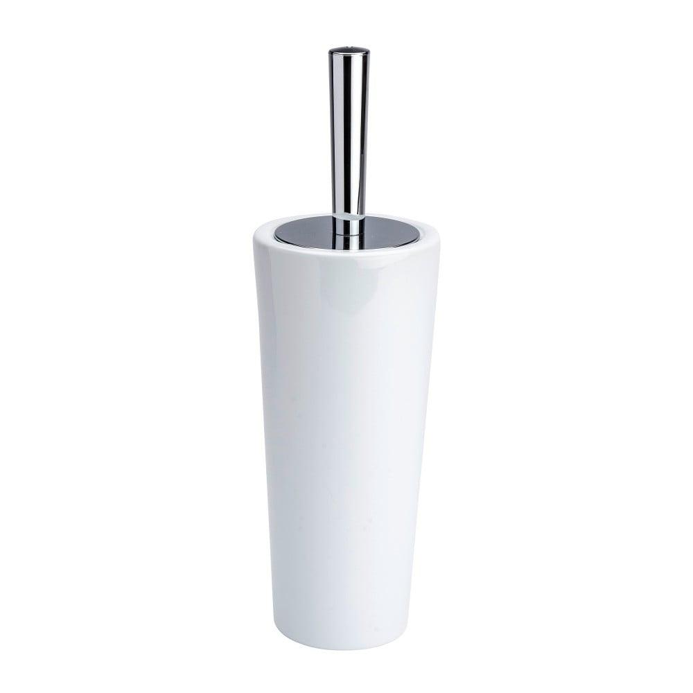 Bílý toaletní kartáč Wenko Coni