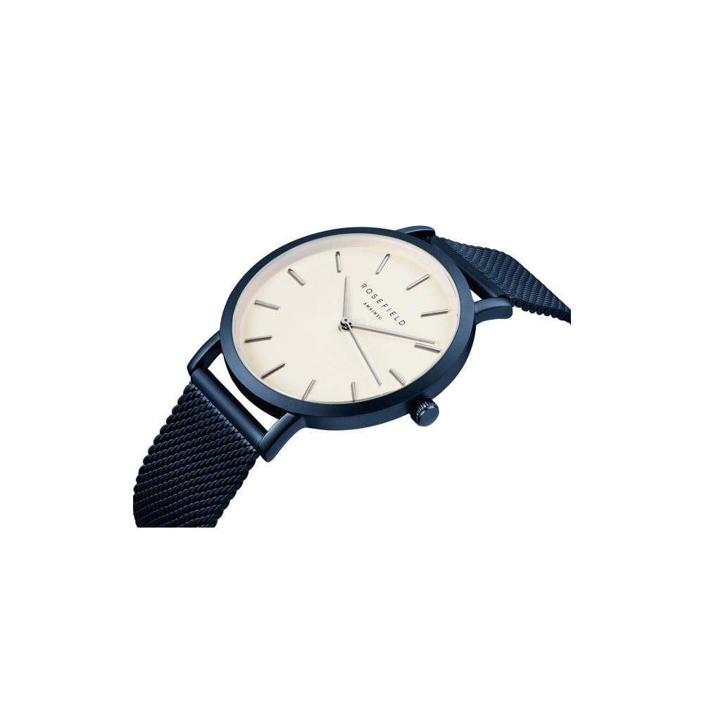 Bílomodré dámské hodinky Rosefield The Mercer ... 3d22f849dfd