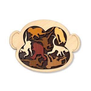 Dřevěná skládanka RecentToys Monkey Madness