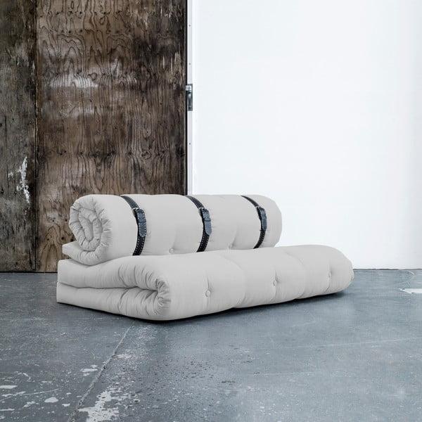 Variabilní pohovka s bíle prošívanými koženými pásky Karup Buckle Up Light Grey