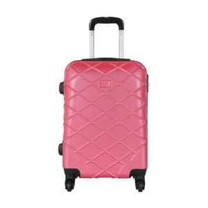 Pastelově růžové kabinové zavazadlo na kolečkách Travel World