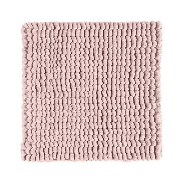 Růžová koupelnová předložka Aquanova Luka, 60x60cm