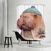 Koupelnový závěs Tattooed Walrus, 180x180 cm