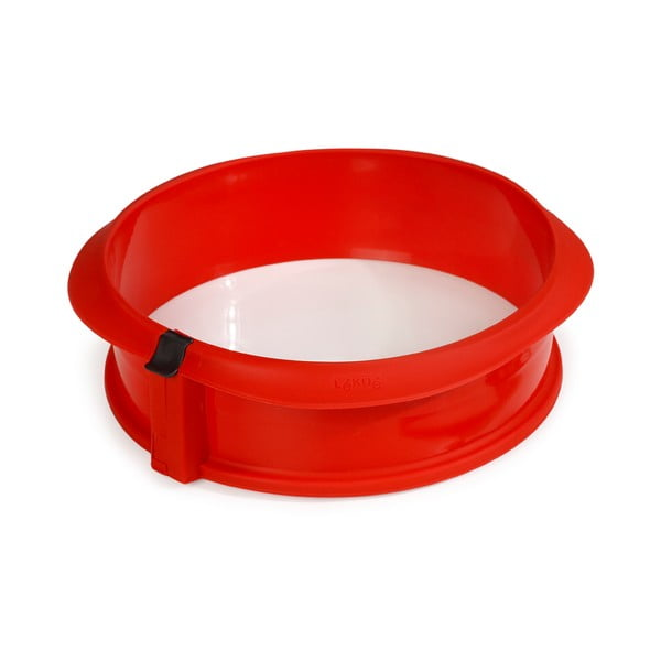 Szétnyitható piros szilikon tortasütő forma, ⌀ 30 cm - Lékué