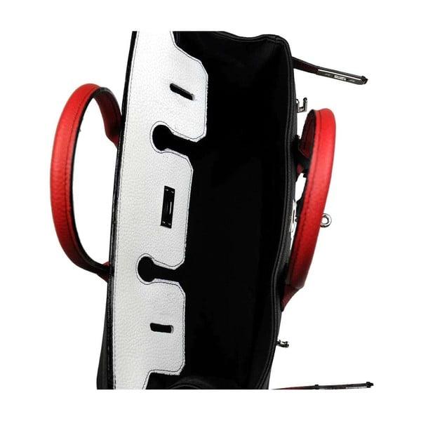 Kožená kabelka Bark Black & Red