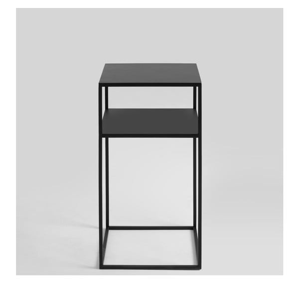 Măsuță auxiliară Custom Form Tensio, negru
