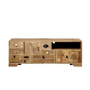 TV stolek z masivního mangového dřeva Massive Home Ella, délka160cm