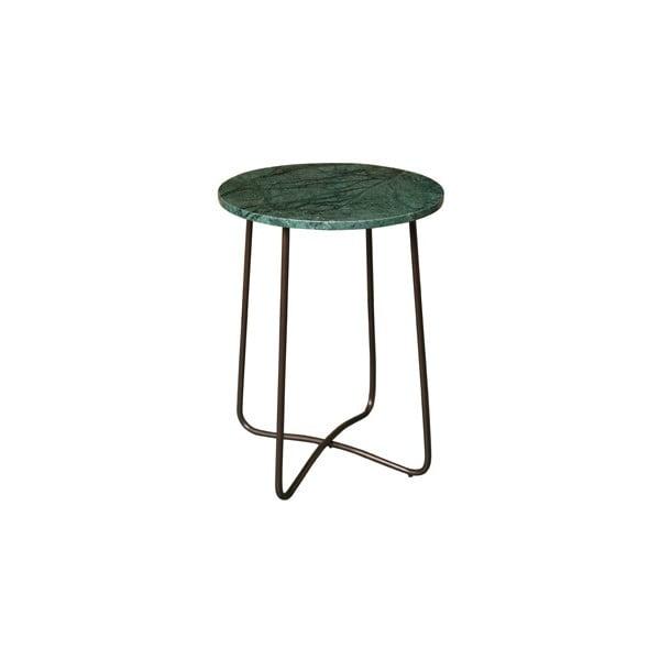 Zelený mramorový odkladací stolík Dutchbones, ⌀ 41 cm