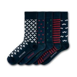 Sada 5 ponožek Black&Parker London Marwood Hill, velikost 37 – 43