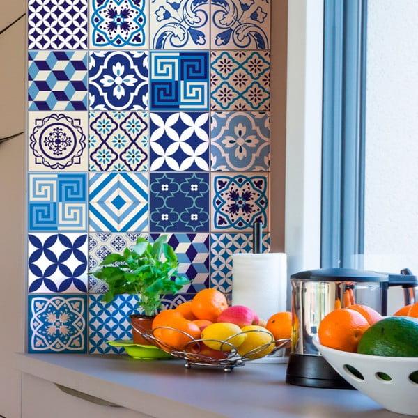 Set 24 autocolante de perete Ambiance Tiles Lendro, 15 x 15 cm