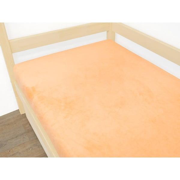 Pomarańczowe prześcieradło z mikropluszu, 70x160 cm