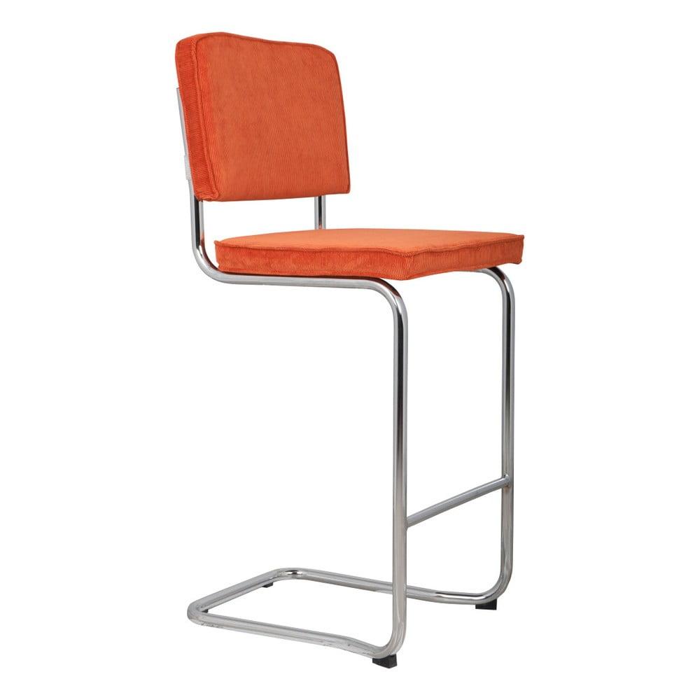 Produktové foto Oranžová barová židle Zuiver Ridge Kink Rib