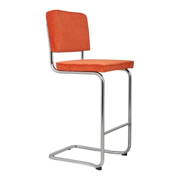 Oranžová barová židle Zuiver Ridge Kink Rib