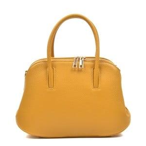 Žlutá kožená kabelka Mangotti Marion