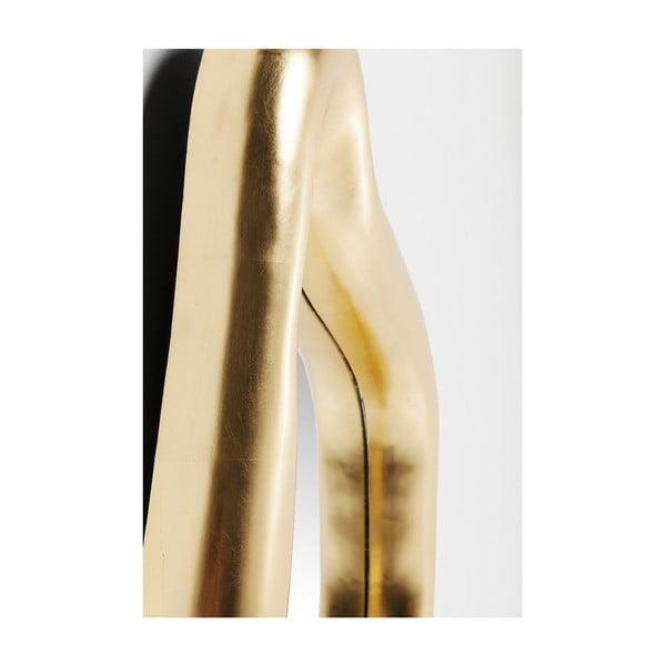 Nástěnné zrcadlo s rámem ve zlaté barvě Kare Design Hologram, 119x76cm